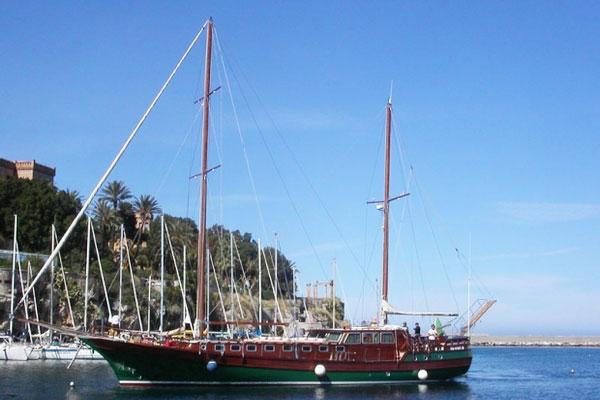 Maria Ship on Italian Bike and Boat