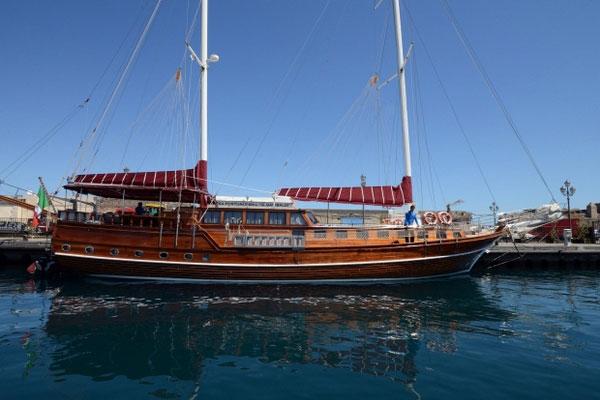 Sundial Boat in Aeolian Sea