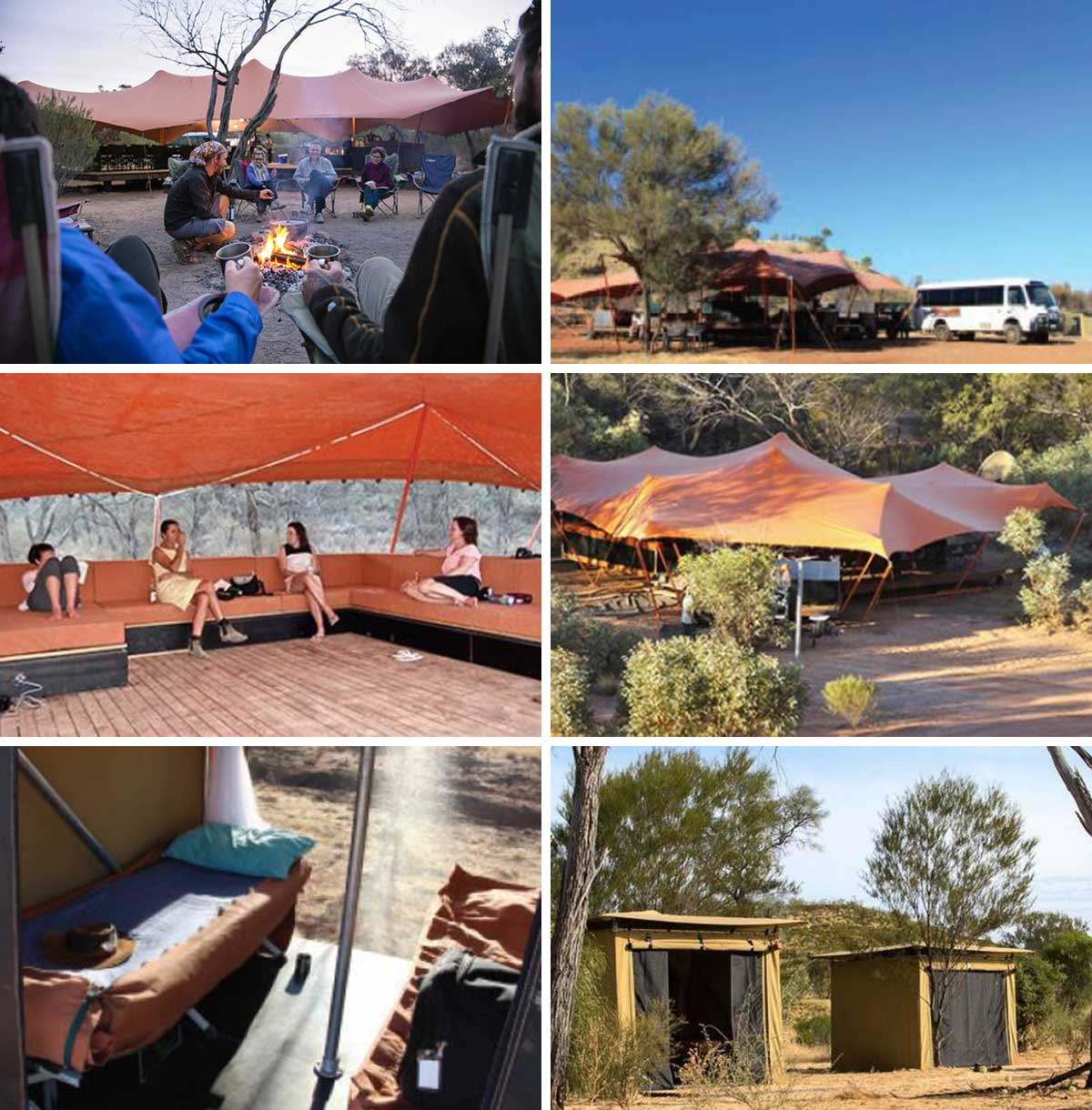 Accommodation on the Larapinta Trail Australia