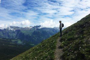 Views walking the Bernese Oberland