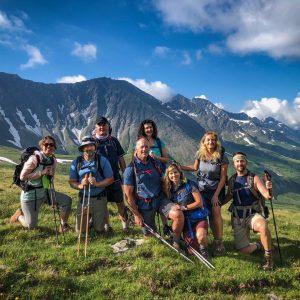 Group on Tour du Mont Blanc