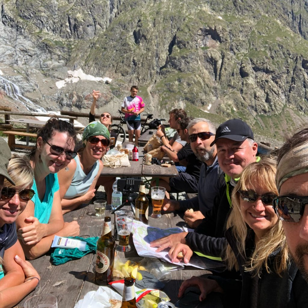 Lunching on Tour du Mont Blanc
