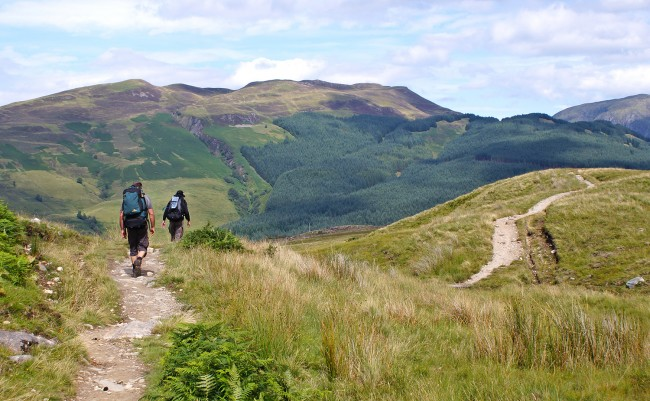 Walkers on the West Highland Way