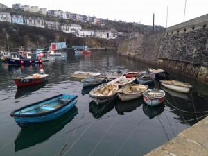 Feedback Boats tugging at their leashes in Mevagissey