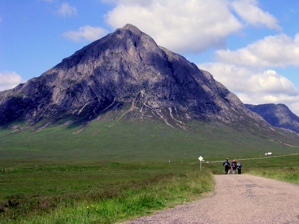 Walking near the Buachaille, on the west highland way