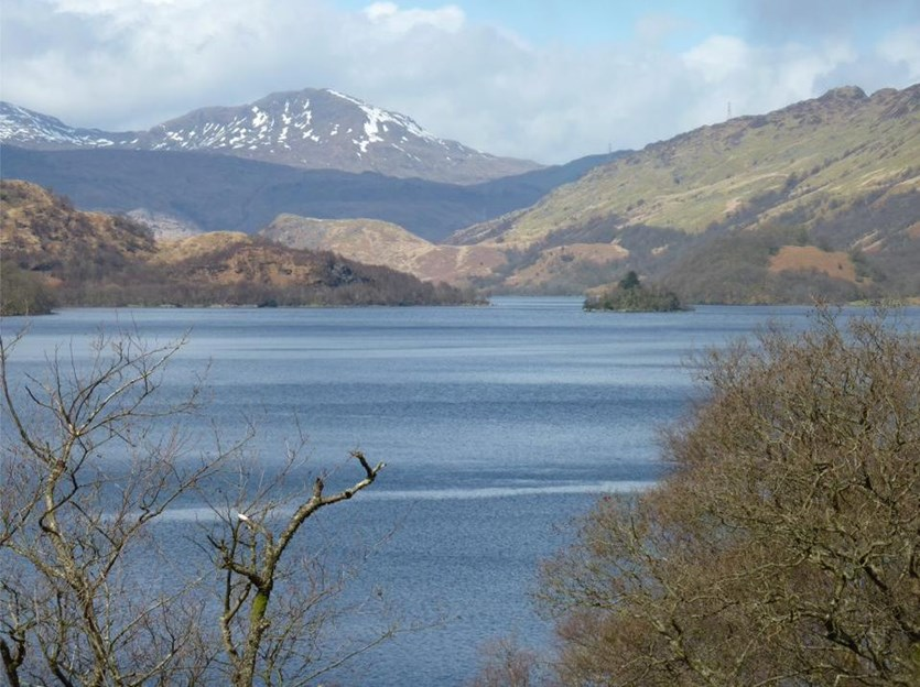 The majestic Loch Lomond on the West Highland Way