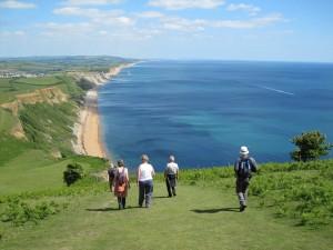 'Walking down Thorncombe Beacon'. Photographer James Cook, Dorset.