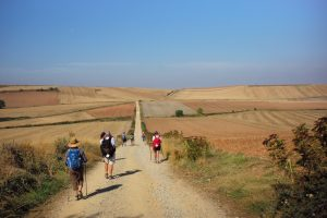 walkers on the camino de santiago