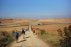 walkers on the camino de santiago