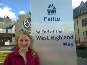 Rachael finishes the West Highland Way