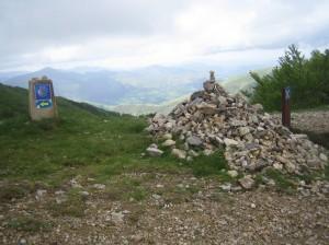 pilgrim leave behind stone cairn