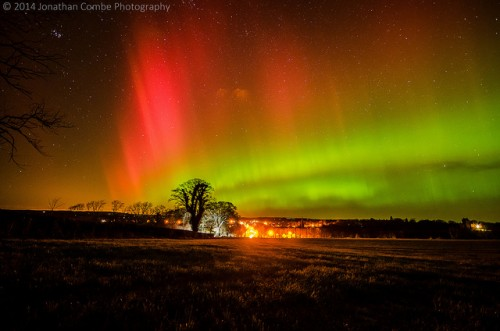Northern Lights in Scotland. Pic credit: Jonathon Combes
