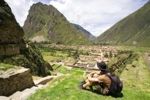 Taking a break on the Inca Trail
