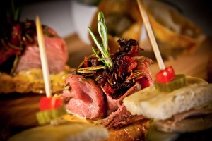 Pintxos - delicious small bites served in bars and cafes.