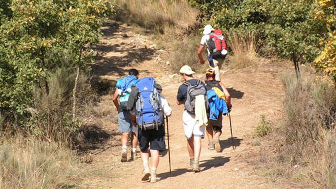 Walker on the camino de santiago