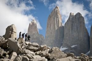 Walkers in the Torres del Paine