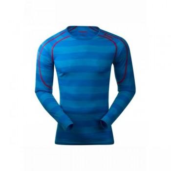bergans-soleie-shirt-sea-blue-striped