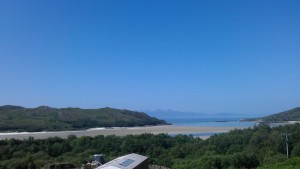 Silver Sands of Morar Beach, the view from the train