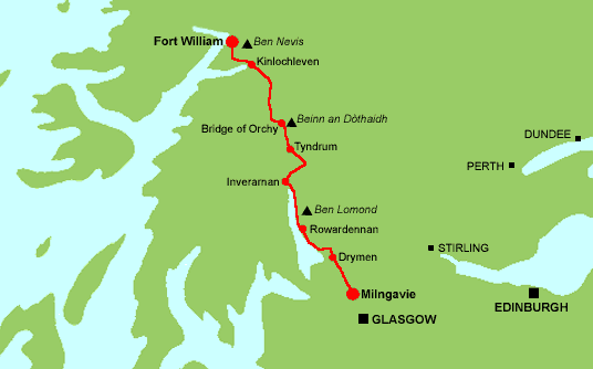 Fort Williams Scotland Map.West Highland Way Faq We Answer The Most Asked Questions