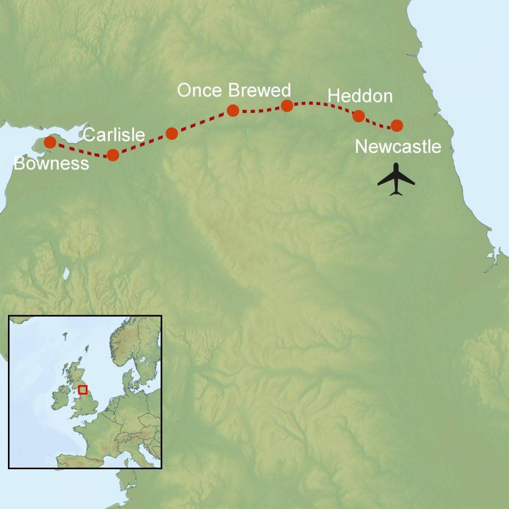 Map Hadrian's Wall Path