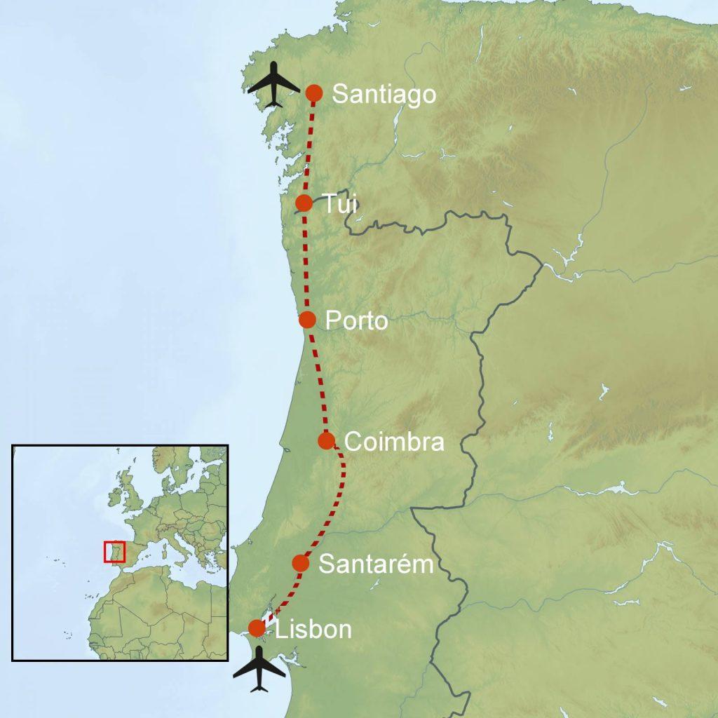 Camino Portugues Karte.Walk Of The Week Camino Portugués Blog Macs Adventure