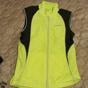 Bright reflective running gear doubles as cycling gear!
