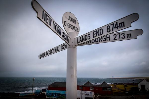Classic LEJOG bike route. Pic credit: Rob Faulkner on Flickr