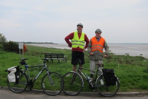 Our smiling cyclists on Day 1