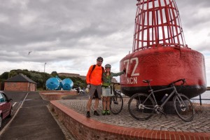 At the end of Hadrian's Cycleway