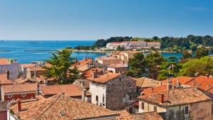662.Adriatic-sea-coast-of-old-Croatian-town-Porech