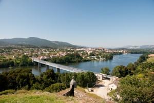 Tui (Vigo - Spain) International bridge over minho river.