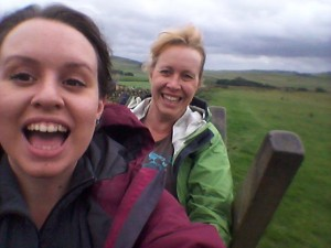 Walking on Hadrian's Wall with my lovely Mum!