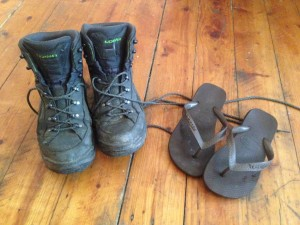 The only footwear you'll need for 10 days trekking!