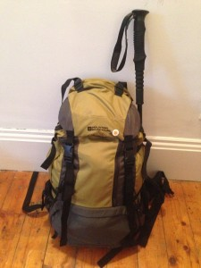 My trusty 40 litre backpack