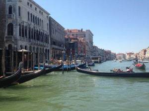 Gondolas on Venice's Canal Grande