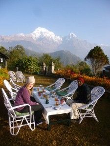 Breakfast at Himalaya Lodge