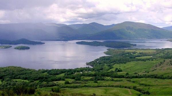Looking across iconic Loch Lomond.