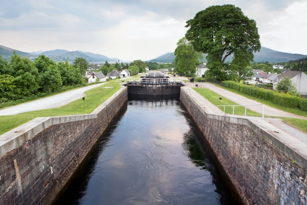 Neptune's Staircase, near Fort William, on the Caledonian Canal.
