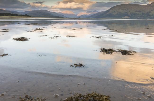 Looking over Loch Linnhe to Glencoe.