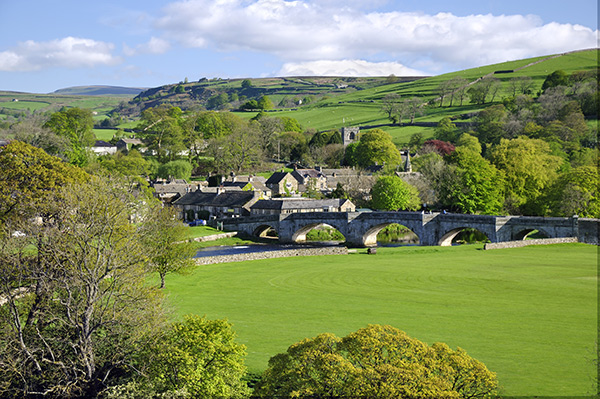 The village of Burnsall in the Yorkshire Dales.