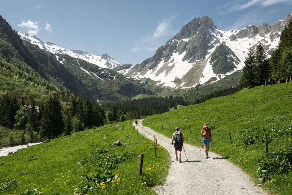 Beautiful Alpine walking