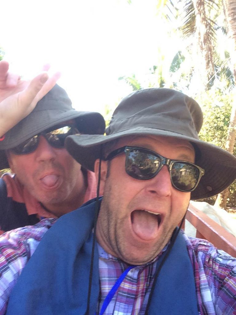 Scott and Colin in Cambodia