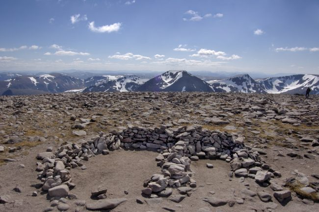 View from the summit of Ben Macdui, Scotland's second tallest mountain.