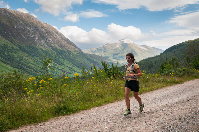 A West Highland Way runner. Pic credit: Robin McConnell on Flickr