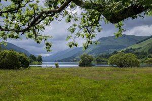 Admiring Loch Voil from Balquidder.