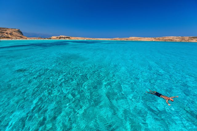 Greece has some perfect places for swimming, as well as walking.