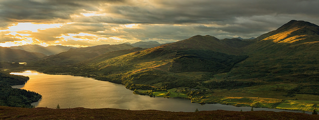 A view of The Trossachs. Pic credit: John McSporran on Flickr creative commons.