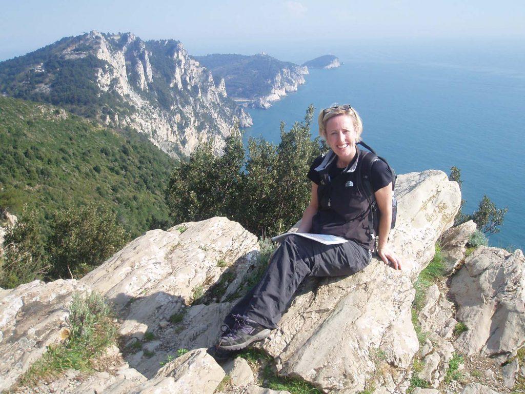 Enjoying the clifftop views, Cinque Terre
