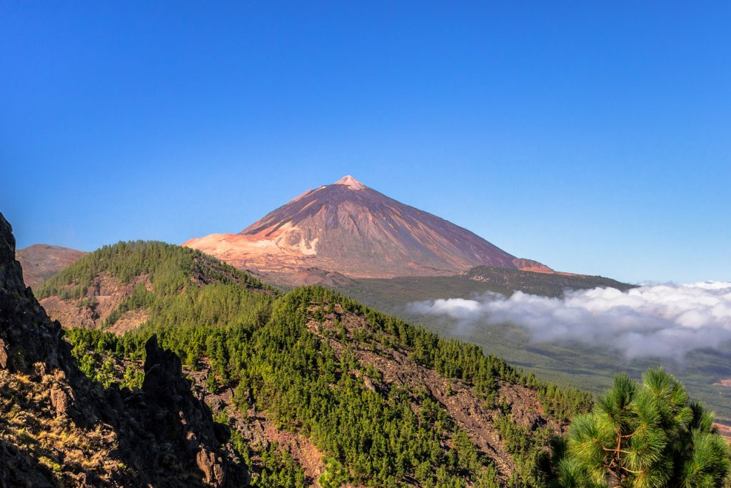 Views of El Teide. Its 12,198 ft summit is the highest point in Spain.