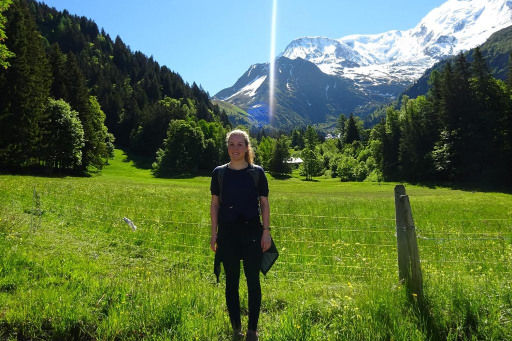 Heleen on the Tour Du Mont Blanc